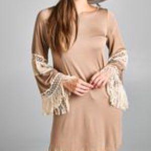 Boho Hippie Fringe Tunic Dress